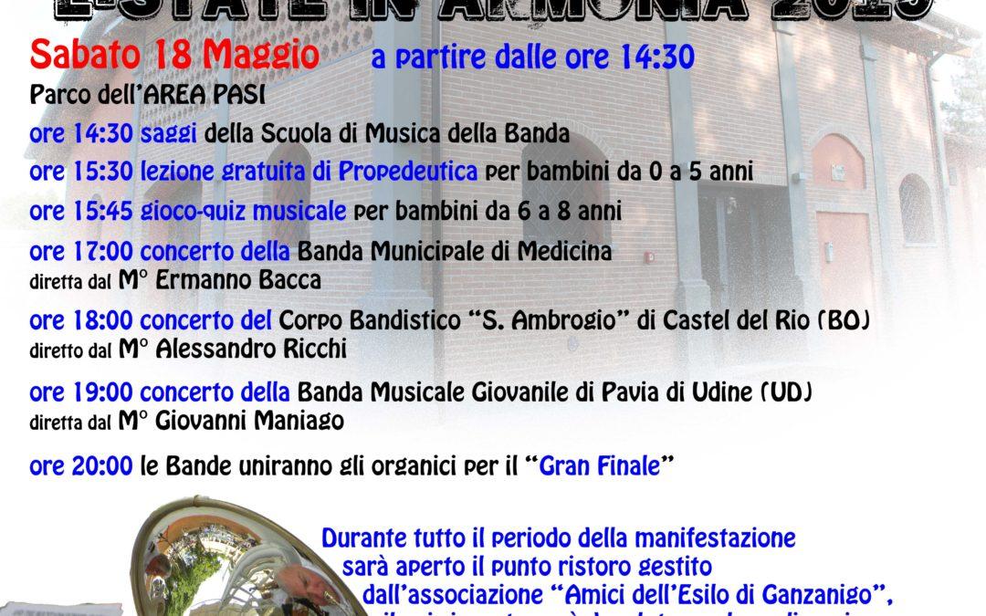 """Rassegna bandistica """"Estate in Armonia 2019"""""""