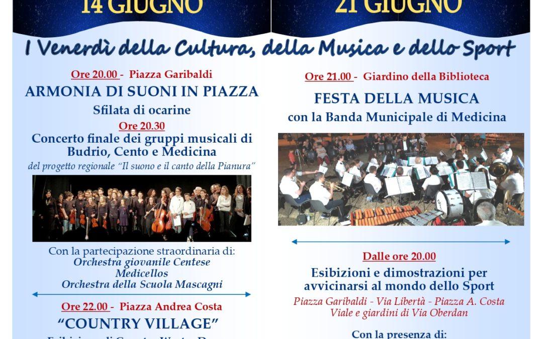 """Torna la VII° edizione """"Medicina al Centro di Venerdì"""" il 14 e 21 giugno"""