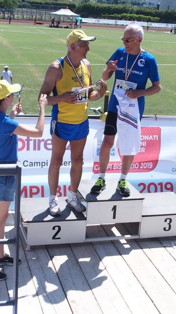Gastone Chiarini campione di salto con l'asta Master 75