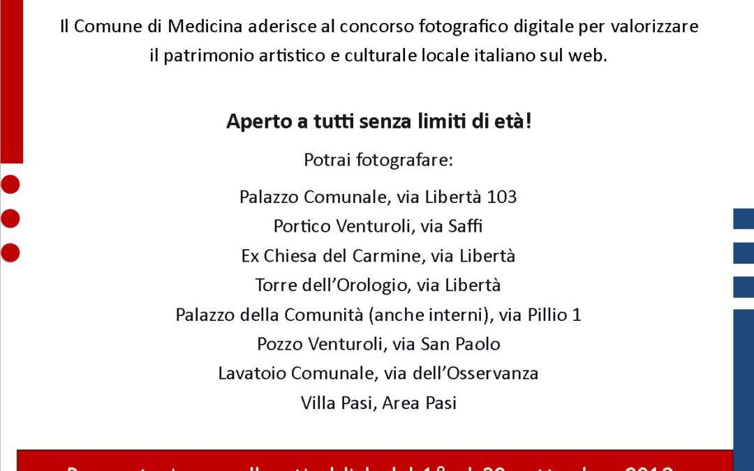 Il Comune di Medicina aderisce a Wiki Loves Monuments, il concorso fotografico digitale più grande al mondo