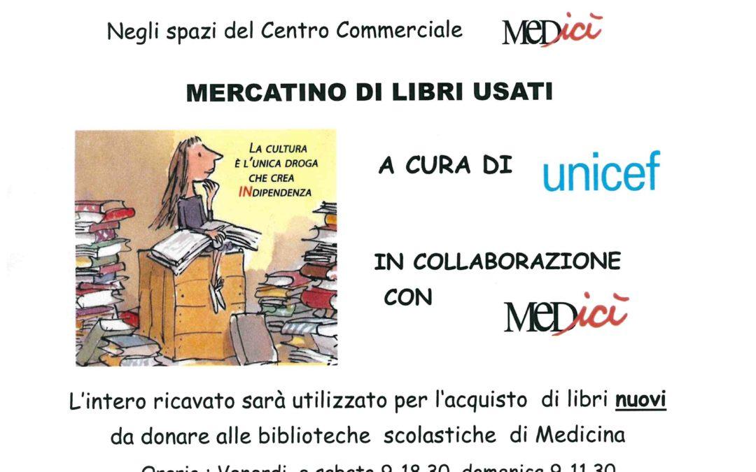 Torna il Mercatino dei libri usati Unicef al Medicì